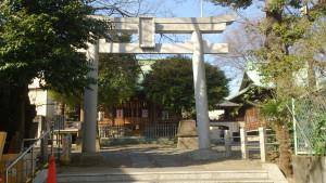 本郷氷川神社 鳥居