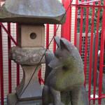 灯篭と神狐左