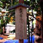 神明氷川神社 三光鱗神社 立て札