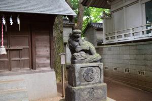 津島神社前 狛犬