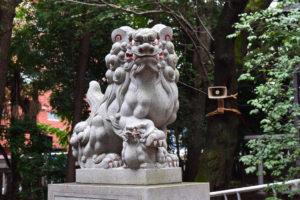 神明氷川神社 狛犬 左