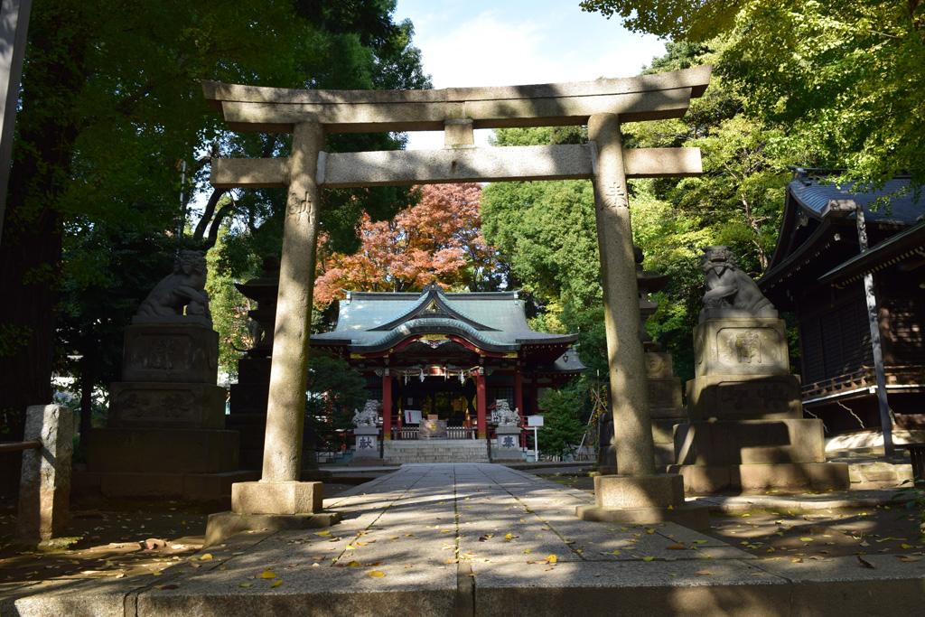東中野氷川神社 鳥居3