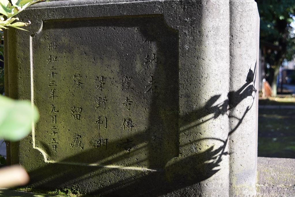 新井北野神社 拝殿前 狛犬右裏