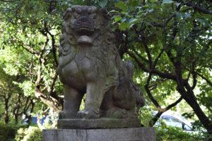 新井北野神社 狛犬右