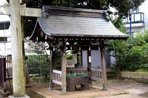 上高田氷川神社 手水舎