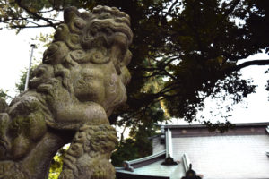 上高田氷川神社 狛犬 吽