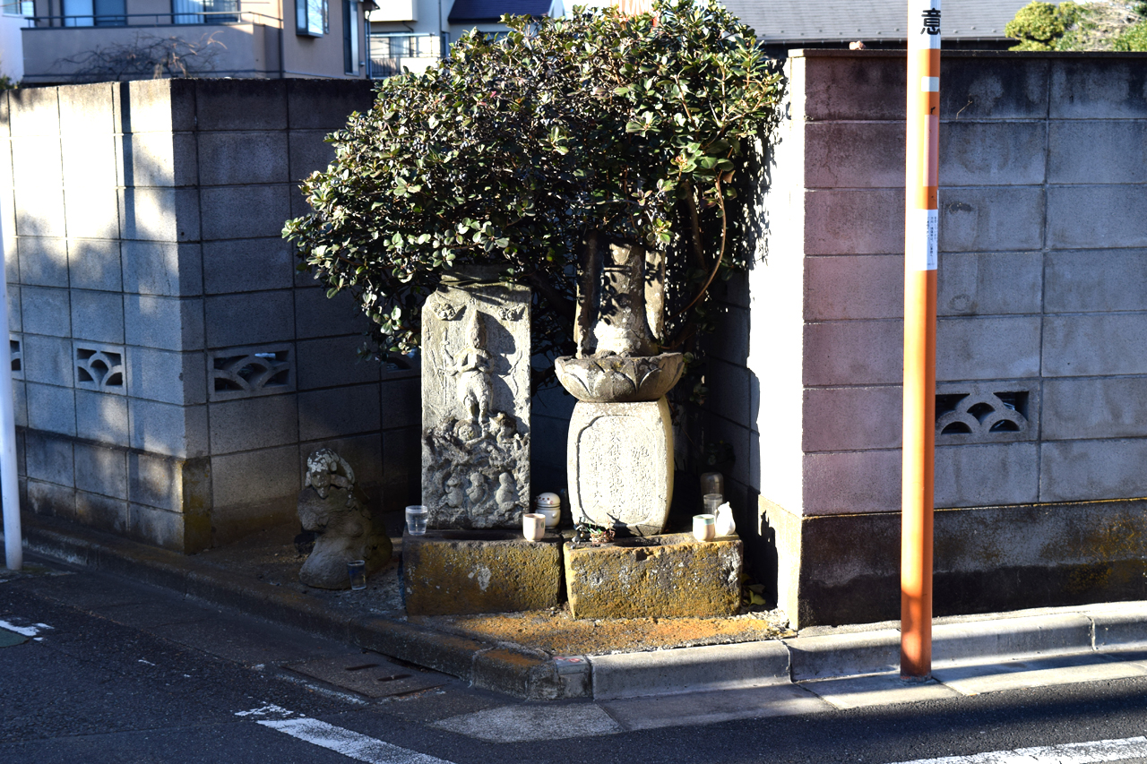 鷺宮 庚申塔と地蔵尊