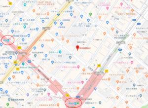 朝日稲荷神社地図